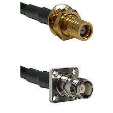 SMB Female Bulkhead on LMR-195-UF UltraFlex to TNC 4 Hole Female Cable Assembly