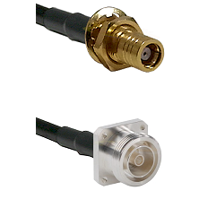 SMB Female Bulkhead on LMR200 UltraFlex to 7/16 4 Hole Female Cable Assembly