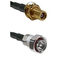 SMB Female Bulkhead on LMR200 UltraFlex to 7/16 Din Male Cable Assembly