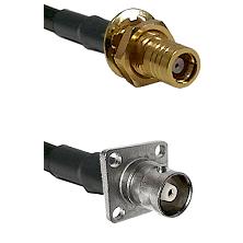SMB Female Bulkhead on LMR200 UltraFlex to C 4 Hole Female Cable Assembly