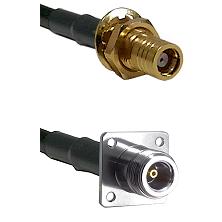 SMB Female Bulkhead on LMR200 UltraFlex to N 4 Hole Female Cable Assembly