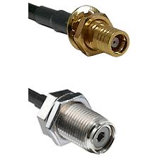 SMB Female Bulk HeadOn LMR200 To UHF Female Bulk Head Connectors Cable Assembly