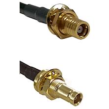 SMB Female Bulkhead on RG142 to 10/23 Female Bulkhead Cable Assembly