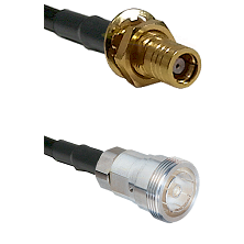 SMB Female Bulkhead on RG142 to 7/16 Din Female Cable Assembly