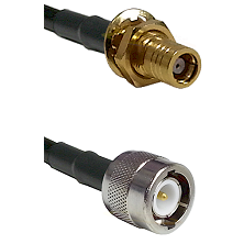 SMB Female Bulkhead on RG142 to C Male Cable Assembly