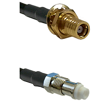 SMB Female Bulkhead on RG142 to FME Female Cable Assembly