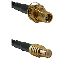 SMB Female Bulkhead on RG142 to MCX Male Cable Assembly
