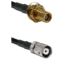 SMB Female Bulkhead on RG142 to MHV Female Cable Assembly