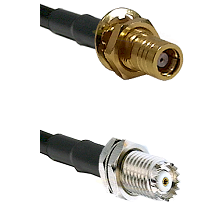 SMB Female Bulkhead on RG142 to Mini-UHF Female Cable Assembly