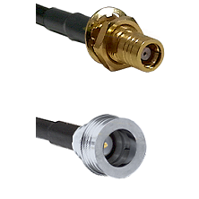 SMB Female Bulkhead on RG142 to QN Male Cable Assembly