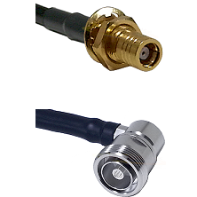SMB Female Bulkhead on RG142 to 7/16 Din Right Angle Female Cable Assembly