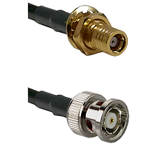 SMB Female Bulkhead on RG142 to BNC Reverse Polarity Male Cable Assembly