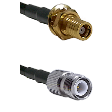 SMB Female Bulkhead on RG142 to TNC Reverse Polarity Female Cable Assembly
