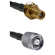 SMB Female Bulkhead on RG142 to TNC Reverse Polarity Male Cable Assembly