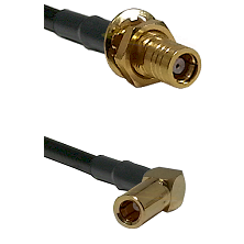 SMB Female Bulkhead on RG142 to SLB Right Angle Female Cable Assembly
