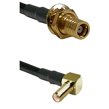 SMB Female Bulkhead on RG142 to SLB Right Angle Male Cable Assembly