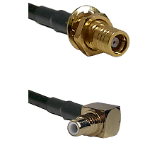SMB Female Bulkhead on RG142 to SMC Right Angle Male Cable Assembly