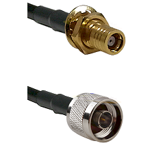 SMB Female Bulkhead on RG142 to N Reverse Thread Male Cable Assembly
