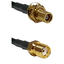 SMB Female Bulkhead on RG142 to SMA Reverse Thread Female Cable Assembly