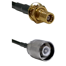 SMB Female Bulkhead on RG142 to SC Male Cable Assembly