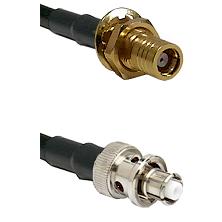 SMB Female Bulkhead on RG142 to SHV Plug Cable Assembly
