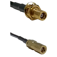SMB Female Bulkhead on RG142 to SLB Female Cable Assembly