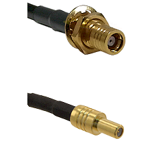 SMB Female Bulkhead on RG142 to SLB Male Cable Assembly