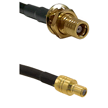 SMB Female Bulkhead on RG142 to SMB Male Cable Assembly
