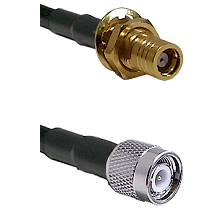 SMB Female Bulkhead on RG142 to TNC Male Cable Assembly
