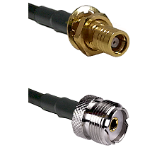 SMB Female Bulkhead on RG142 to UHF Female Cable Assembly