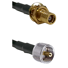 SMB Female Bulkhead on RG142 to UHF Male Cable Assembly