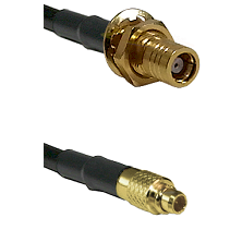 SMB Female Bulk Head To MMCX Male Connectors RG179 75 Ohm Cable Assembly