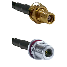 SMB Female Bulk Head To N Female Bulk Head Connectors RG179 75 Ohm Cable Assembly