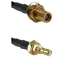 SMB Female Bulkhead on RG188 to SMB Male Bulkhead Cable Assembly