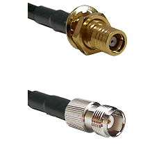 SMB Female Bulkhead on RG188 to TNC Female Cable Assembly
