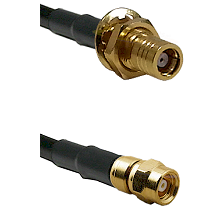 SMB Female Bulkhead Connector On RG316DS Double Shielded To SMC Male Connector Coaxial Cable Assemb