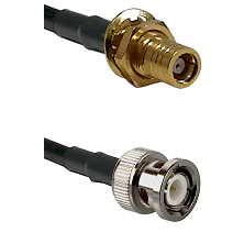 SMB Female Bulkhead on RG400 to BNC Male Cable Assembly