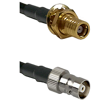 SMB Female Bulkhead on RG400 to C Female Cable Assembly