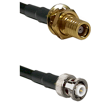 SMB Female Bulkhead on RG400 to MHV Male Cable Assembly