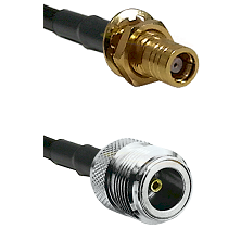 SMB Female Bulk Head On RG400 To N Female Connectors Coaxial Cable