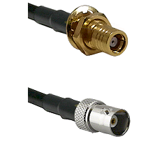 SMB Female Bulkhead on RG58C/U to BNC Female Cable Assembly