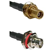 SMB Female Bulkhead on RG58C/U to C Female Bulkhead Cable Assembly