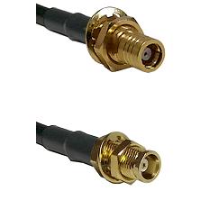 SMB Female Bulkhead on RG58C/U to MCX Female Bulkhead Cable Assembly