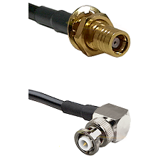 SMB Female Bulkhead on RG58C/U to MHV Right Angle Male Cable Assembly