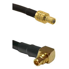 SMB Male To Right Angle MMCX Male Connectors LMR100 Cable Assembly