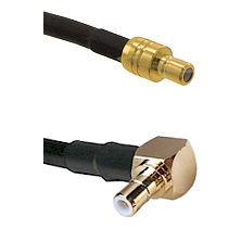 SMB Male To Right Angle SMB Male Connectors LMR100 Cable Assembly