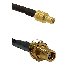SMB Male On LMR100A To SMB Female Bulk Head Connectors Coaxial Cable