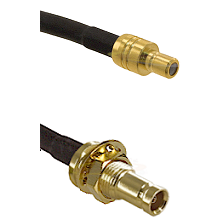SMB Male on RG142 to 10/23 Female Bulkhead Cable Assembly