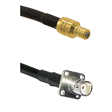 SMB Male on RG142 to BNC 4 Hole Female Cable Assembly