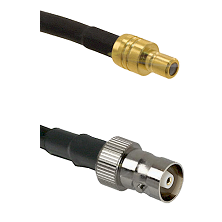 SMB Male on RG142 to C Female Cable Assembly